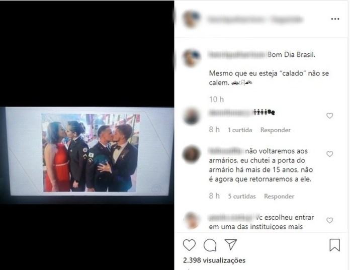 Print do Instagram do policial militar (Foto: Instagram/Reprodução)
