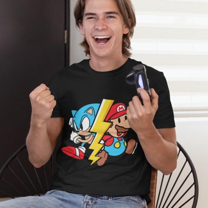 Compre camisetas personalizadas do Sonic na Loja das Pocs!