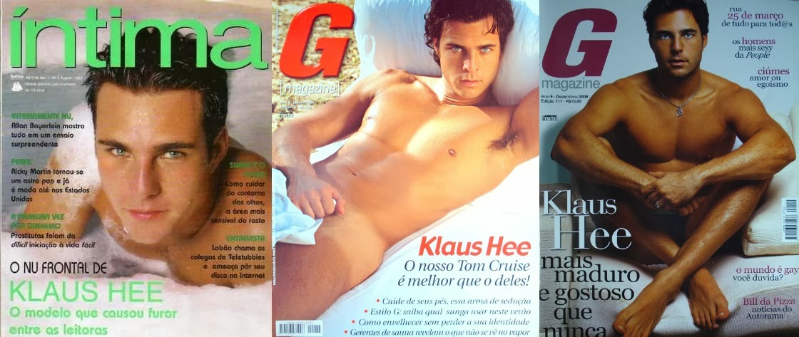 Ex-Dominó Klaus Hee está vendendo três revistas em que posou nu e irá autografá-las
