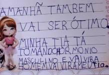 """Menina de 7 anos relata em diário sobre transição do tio: """"Vai ser ótimo"""""""