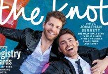 "Jonathan Bennett e marido são o primeiro casal gay na capa da revista de casamento ""The Knot"""