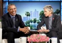 Presidente Barack Obama e a apresentadora EllenDeGeneres (Foto: Reprodução / Instagram)