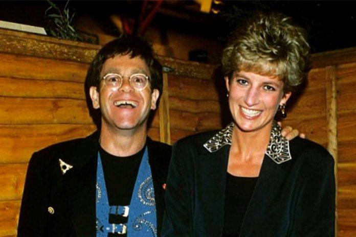 Elton John e Princesa Diana - Reprodução