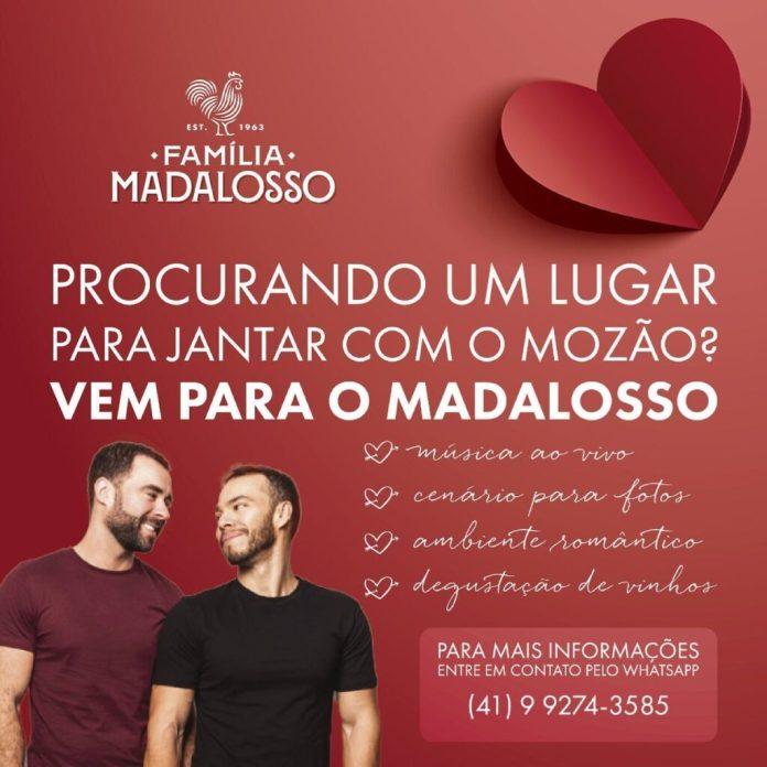 Tradicional restaurante de Curitiba faz propaganda do Dia dos Namorados com casal gay