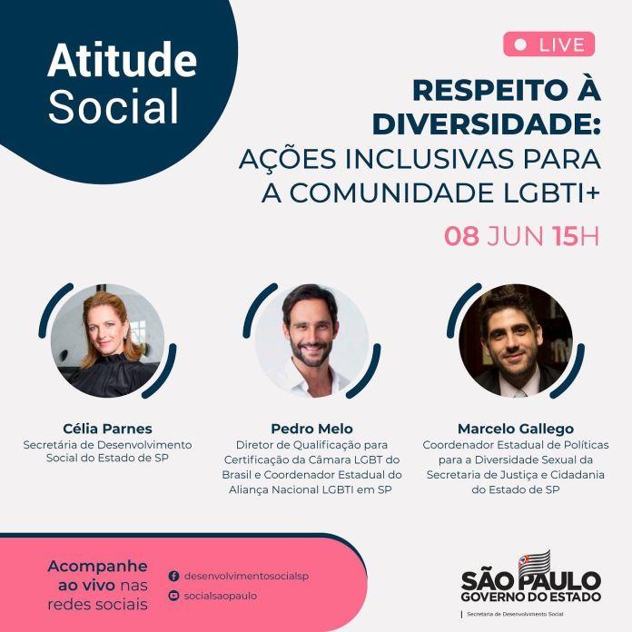 """Live Atitude Social com o tema """"Respeito à Diversidade"""""""