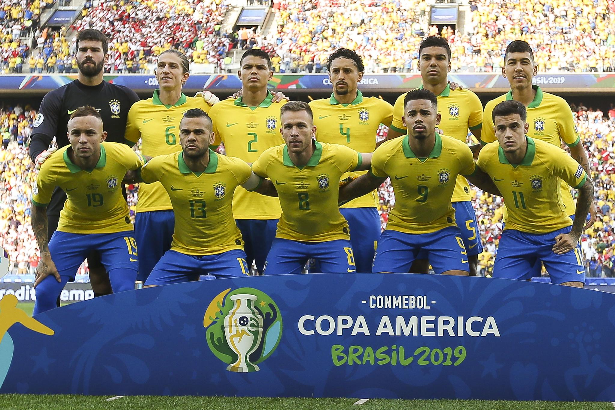 Seleção brasileira é a única sem a camisa 24 na Copa América