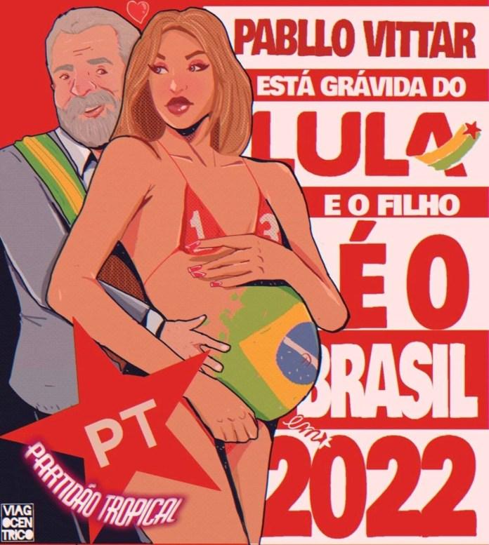É falso que Pabllo Vittar está grávida de Lula