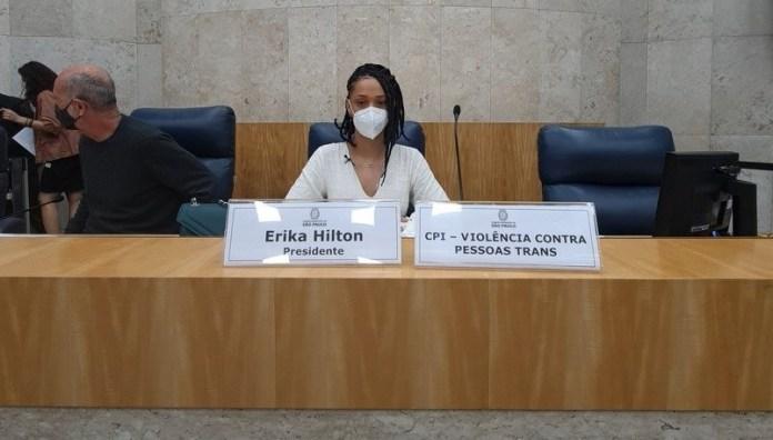 Erika Hilton (PSOL), Presidenta da CPI da Violência Contra Pessoas Trans e Travestis (Foto: Reprodução).
