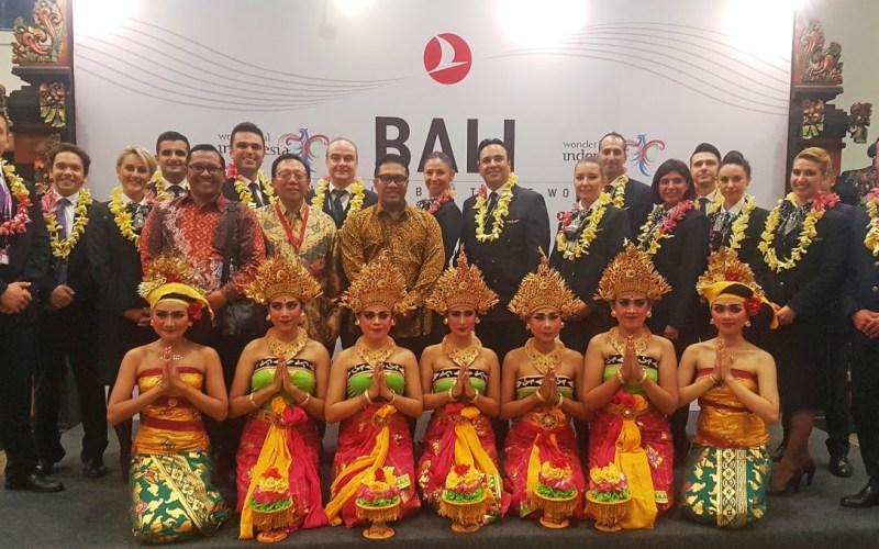 A Turkish Airlines acrescenta a mundialmente famosa ilha de férias da Indonésia, Bali, à sua rede de vôos.