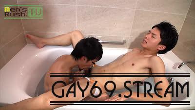 【HD】【MR-KR1242】 バスルームに響く喘ぎ声!オトコマエ好青年がHIROTOに掘られて激悶え♂