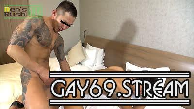 【HD】【MR-KR1282】 RYUSEIが全身に刺青の短髪青年MUSASHIの生マラでヤラレル♂