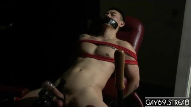 【HD】Cum Control – Chinese got his cum control while tied up_180502