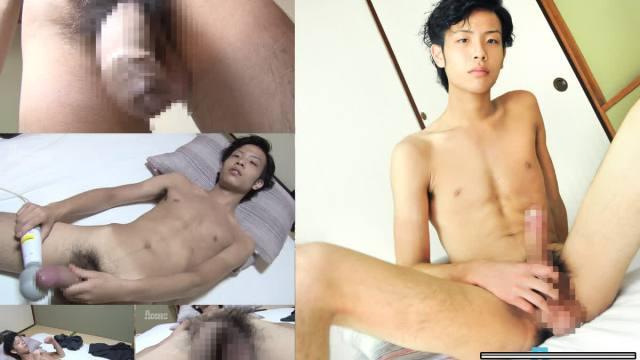 【HD】【OCON114】 下反り17センチ極太巨根の19歳少年がオナニー!