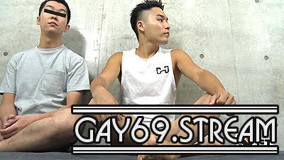 【HD】【GT-1780】 タンクトップ灼けのノンケ青年、前立腺感じまくりの全身ザーメンまみれ♂