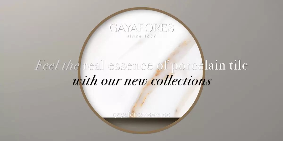 Gayafores Calacatta Gold new porcelain tiles collection