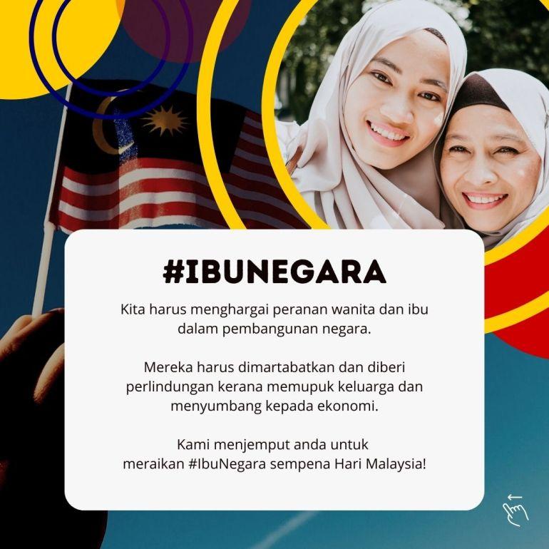 Kempen #Ibunegara sempena Hari Malaysia