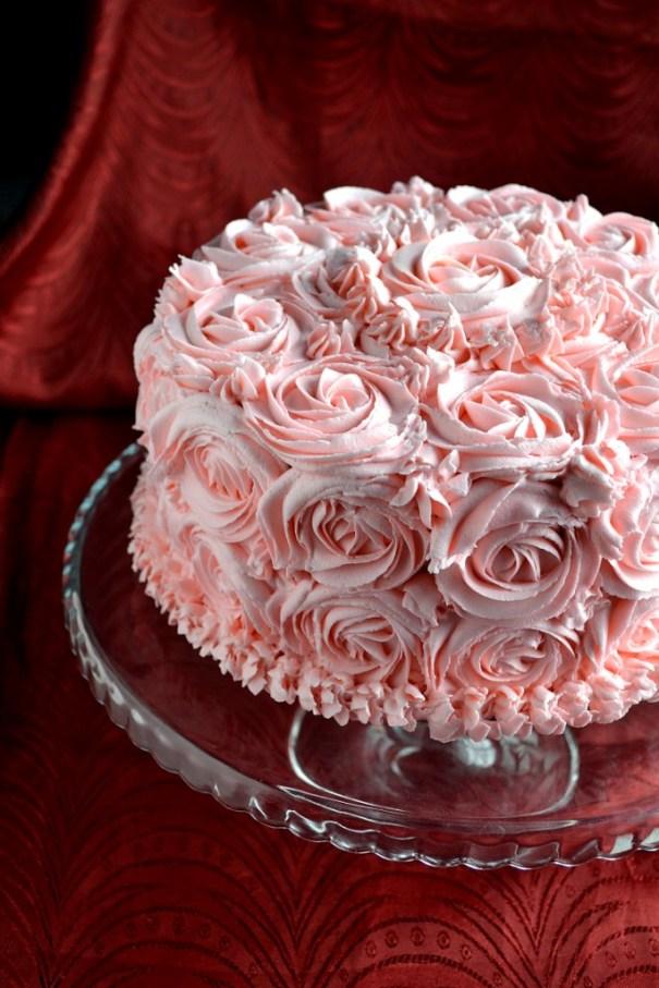 Checkered Rose Cake