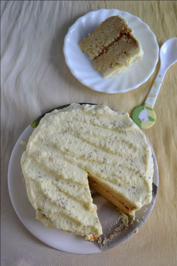 Eggless Pineapple Cake/ Pastry