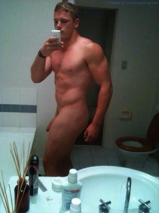 guy selfie naked Male