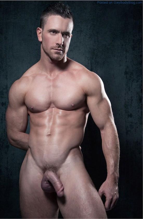 Naked hunk male model