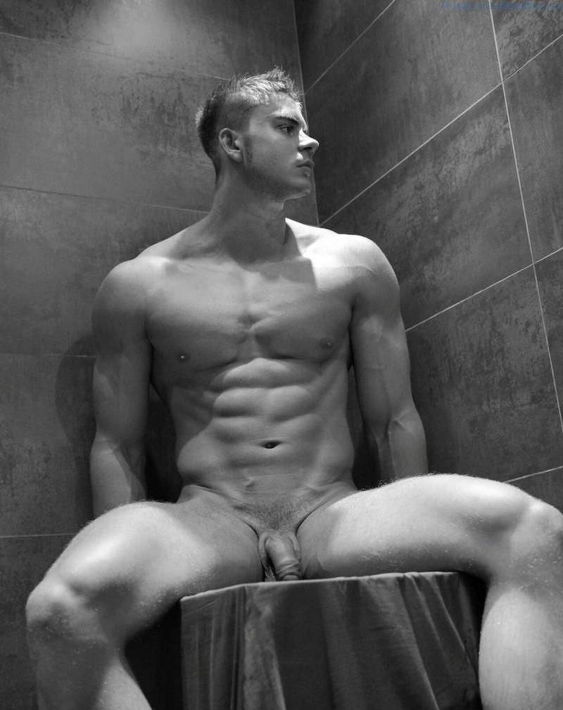Black and white guy naked