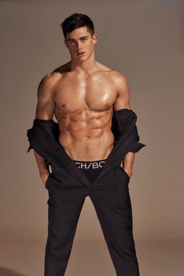 sexy male model Pietro Boselli shirtless