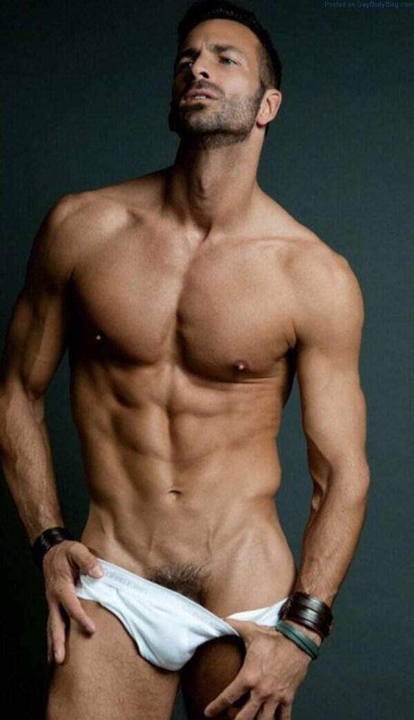 Male Model Ryan Young Underwear Bulge