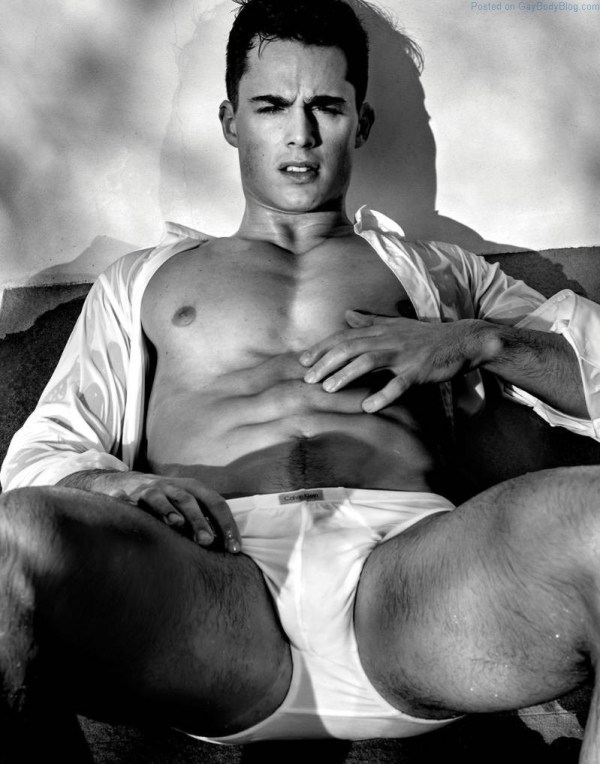 handsome jock in white underwear