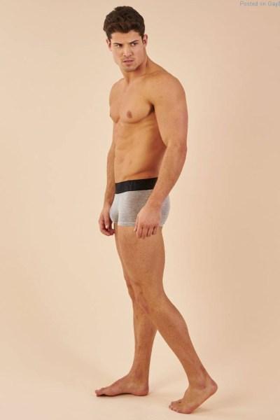 male model William Goodge in underwear