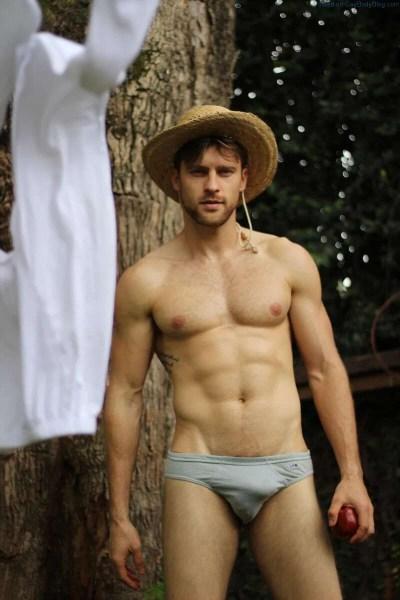 Male model Vinicius Piccoli bulging in his underwear