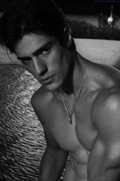 male model Luis Alberto Montero shirtless
