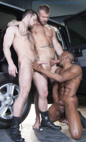 Rideshare: Three big cocks to worship with Austin Wolf, Kurtis Wolfe & Pheonix Fellington