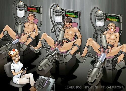 male milking machine bondage