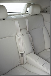 2009 Lexus IS 250C Sports Luxury rear seats