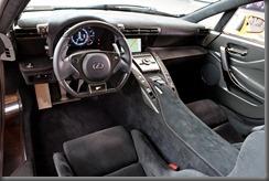 Lexus LFA Nurburgring package interior (overseas model shown)