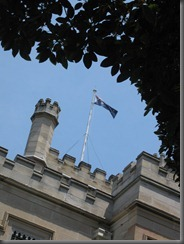 Swifts Australian flag flying on the roof