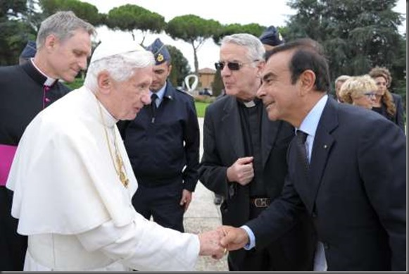 Renault Makes Donation of an Exclusive All-Electric Vehicle to Pope Benedict XVI