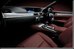2012 Lexus GS 450h F Sport interior (pre production model shown)