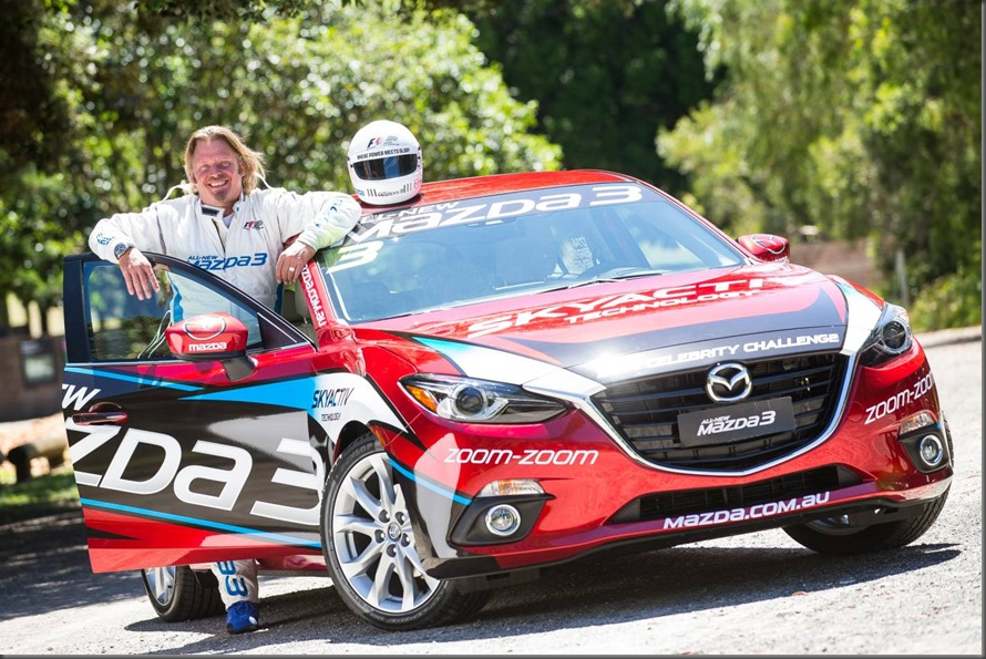 Adventurer Charley Boorman will compete in the Mazda3 Celebrity Challenge at the 2014 Formula 1® Australian Grand Prix (1)