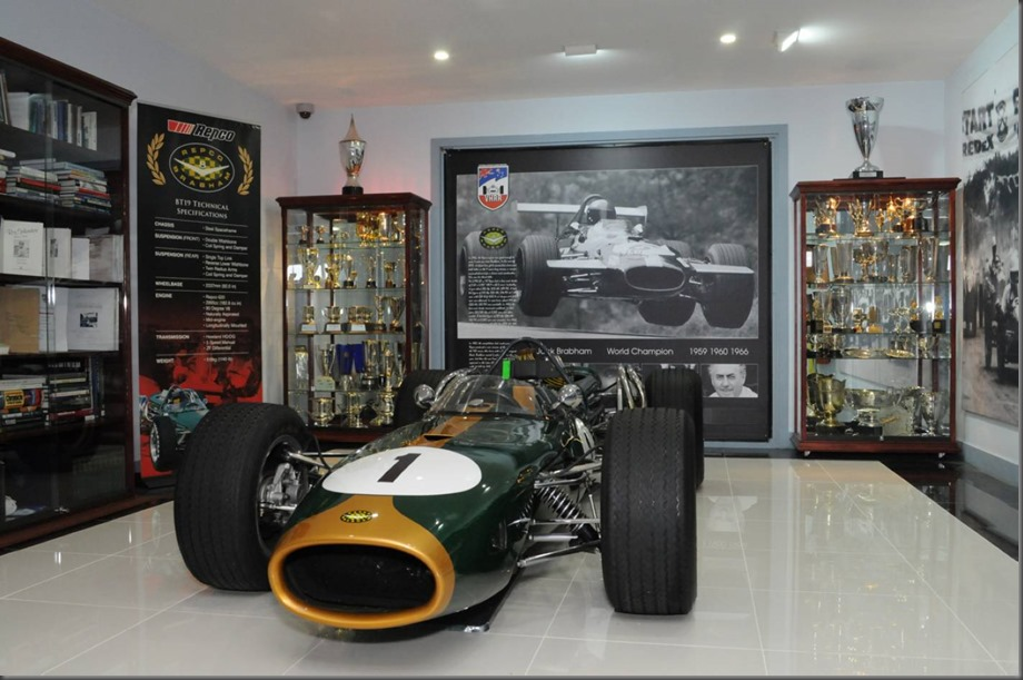 The Sir Jack Brabham Annexe is a special room at the VHRR's Melbourne clubrooms dedicated to Sir Jack's racing career.