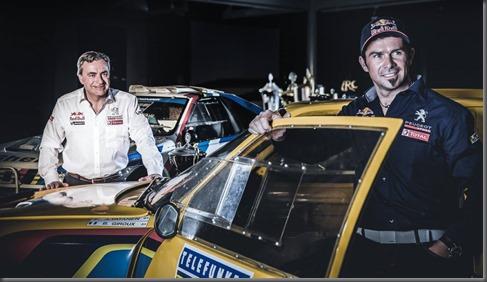 Carlos Sainz and Cyril Despres dakar peugeot