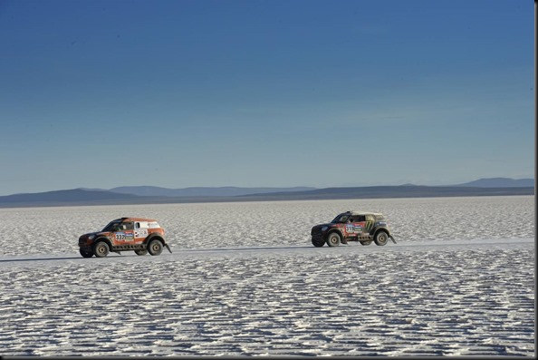 during the Dakar 2015 Argentina Bolivia Chile, Car Marathon Stage 8a / Auto Etape Marathon 8a, Uyuni to Iquique on January 11th 2015 at Uyuni, Bolivia. Photo Eric Vargiolu / DPPI