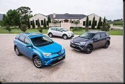 2015 Toyota RAV4: Cruiser (left), GXL (right) and GX