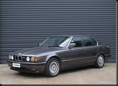 one-owner six cylinder 1991 E34 model BMW M5 with five-speed manual transmission