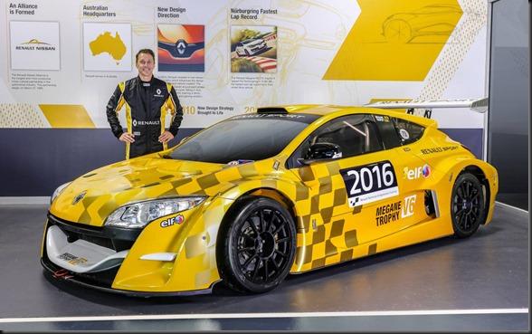 Renault Megane Trophy V6 and driver Cam McConvill