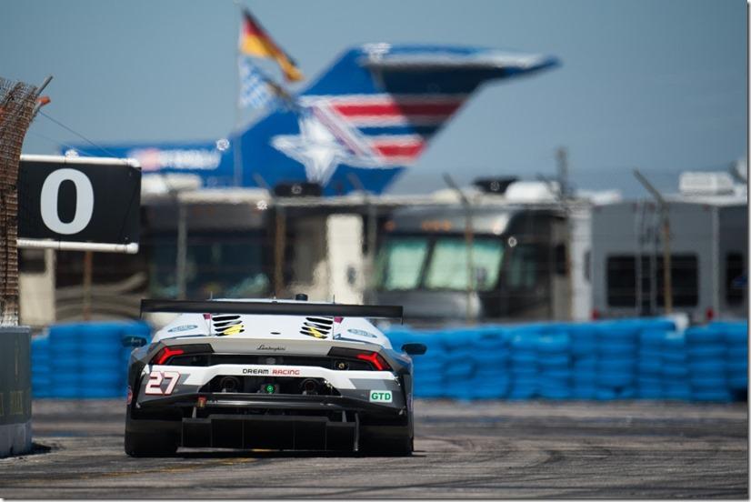 March 16-18, 2017: Mobil 1 12 Hours of Sebring. 27 Dream Racing Motorsport, Lamborghini Huracan GT3, Lawrence DeGeorge, Cedric Sbirrazzuoli, Paolo Ruberti, Luca Persiani