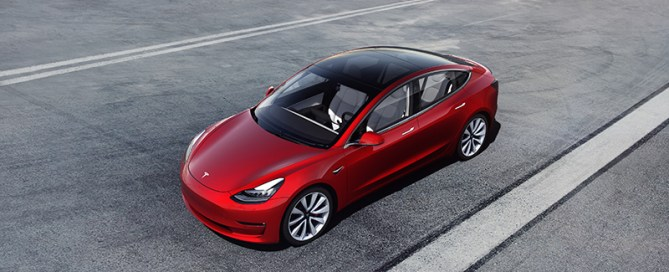 Model 3 Performance - Red Above Tarmac