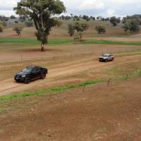 Nissan N Trek Warrior VS Toyota Hilux Rugged X down on the Farm.