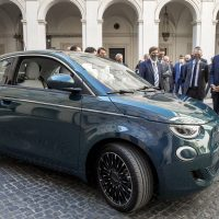 All New Fiat 500 at palazzo Chigi