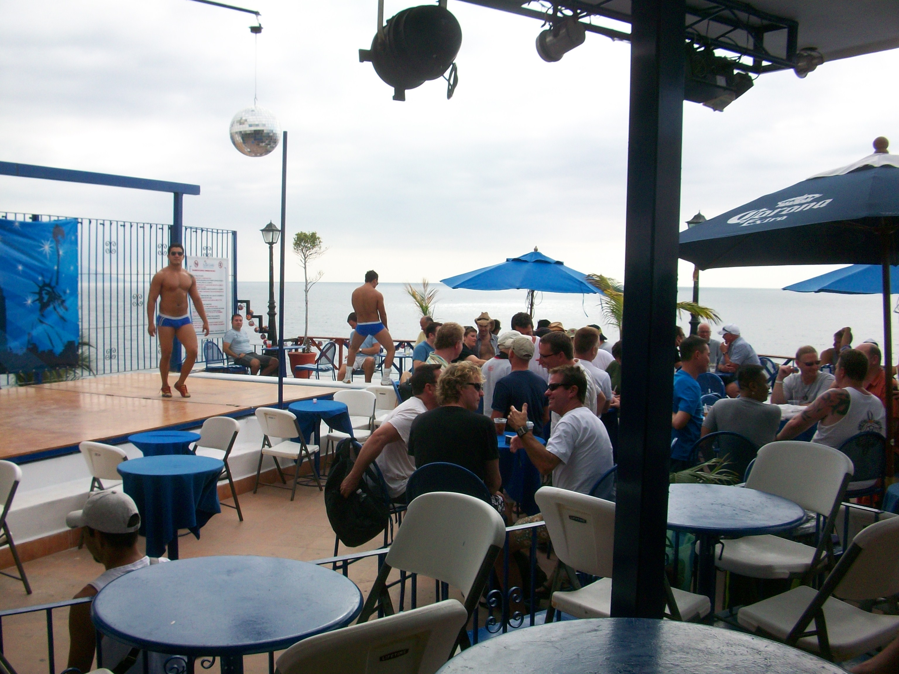 Blue Chairs Puerto Vallarta Blue Sunset Rooftop Bar At Blue Chairs Resort Photos Gaycities